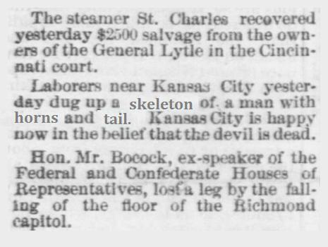 1870 Memphis TN Newspaper