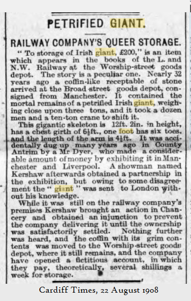 Cardiff Times 22 August 1908