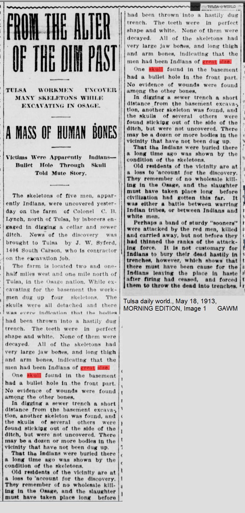 Tulsa daily world., May 18, 1913, MORNING EDITION, Image 1